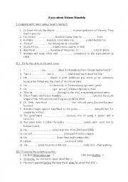 English Worksheet: exercice about the biography of Nelson Mandela