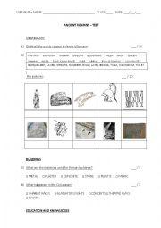English Worksheet: Ancient Romans test