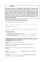 English Worksheet: 5th Form worksheet (Tunisian programme - private primary school)