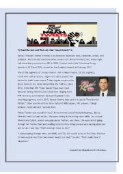 English Worksheet: *Jimmy Kimmel�s Mean Tweets VIDEO SESSION* [READING, LISTENING, SPEAKING AND WRITING] **Zero, first, second and third conditionals**