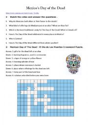 English Worksheet: Mexico�s day of the dead