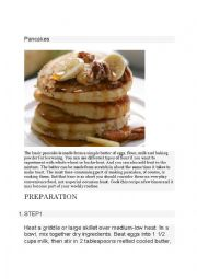 English Worksheet: Everyday Pancakes