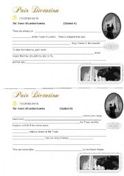 English Worksheet: Communicative Activity: Pair Dictation