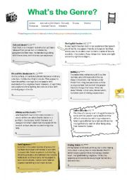 English Worksheet: What�s the Genre?
