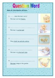 English Worksheets: Question word **[key included]**