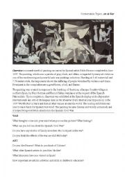 English Worksheet: Art & War