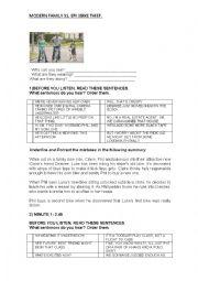 English Worksheet: MODERN FAMILY EPISODE 2 SEASON 1