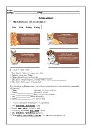 English Worksheet: A dog�s purpose movie