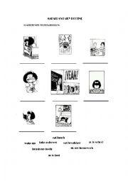 English Worksheet: Mafalda�s Daily Routine