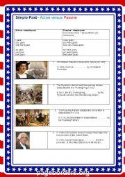 Passive past simple - American history CEF B1/ B2