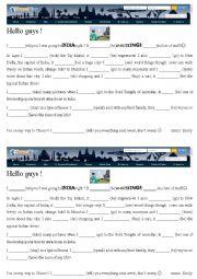 English Worksheet: travel blog : India (preterit and irregular verbs)