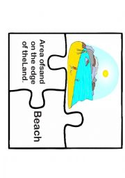 English Worksheet: Landforms Puzzle