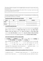 English Worksheet: 6th form revision ( private primary school Tunisian programme)