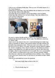 English Worksheet: Today we are celebrating a Buddy Dog