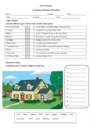 Vocabulary test on the house