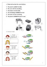 English Worksheet: 3rd grade review