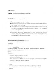 English Worksheet: Story: How the whale got his throat reading comprehension part 1
