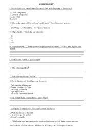 English Worksheet: Forrest Gump - TEST / EXERCISES
