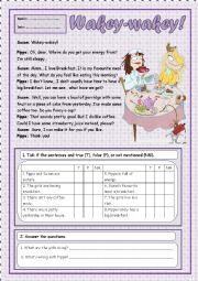 English Worksheet: Wakey-Wakey