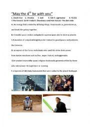 English Worksheet: Star Wars
