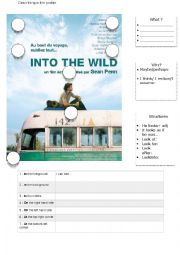 English Worksheet: Into the Wild poster analysis