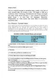 English Worksheet: Ted e modern family