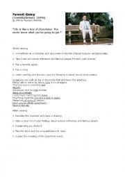 English Worksheet: Worksheet Movie Forrest Gump