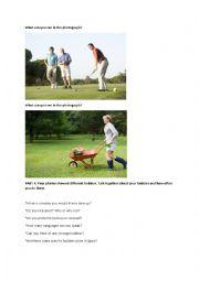 English Worksheet: PET B1 EXAM visual for hobbies