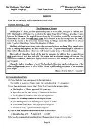 English Worksheet: Ancient civ GHANA