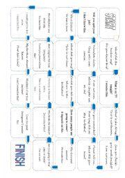 English Worksheet: noun clauses board game