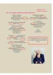 English Worksheet: Bound to you - Christina Aguilera