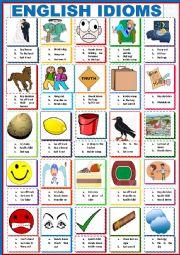 English worksheet: English Idioms