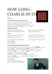 English Worksheet: How Long - Charlie Puth