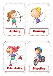 English Worksheet: Sport Flashcards. Part 1