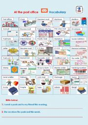 English Worksheet: At the post office Vocabulary