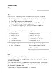 English Worksheet: Global English progress test