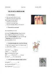 English Worksheet: You´ve got a friend in me