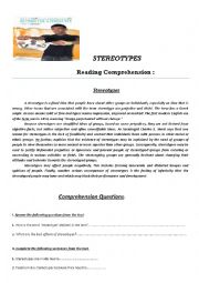 English Worksheet: STEREOTYPES