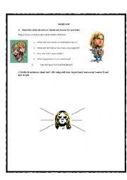 English worksheet: Past Simple (Kurt Cobain Video)