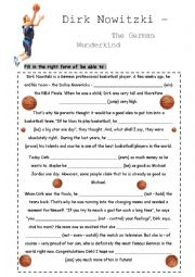 English Worksheet: be able to all tenses