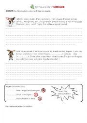 English Worksheet: Gremlins / 3rd person singular