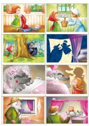 English Worksheet: Little Red Riding Hood flashcard story