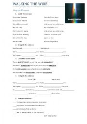 English Worksheet: walking the wire - Imagine Dragons SONG