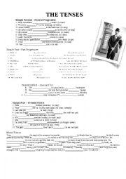 English Worksheet: Mixed Grammar 8th grade different tasks Simple Present, Progressive, Simple Past, Present Perfect,...