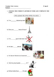 English Worksheet: Presente Perfect