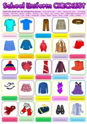 School Uniform Checklist + KEY
