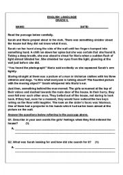 Mixed Language Worksheet