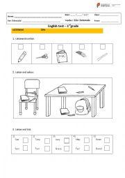 English Worksheet: 3rd grade test