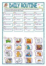 English Worksheet: Garfield�s Daily Routine