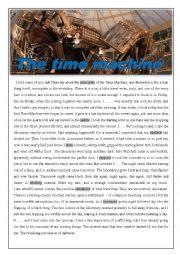 English Worksheet: the time machine